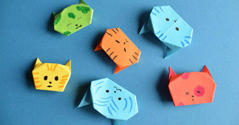 Paper Nesting Cats Tutorials That Are Fun & Easy for All Ages