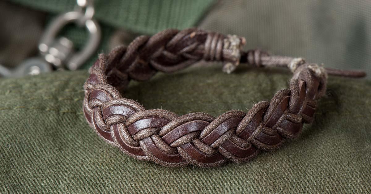 DIY tressed chain bracelet